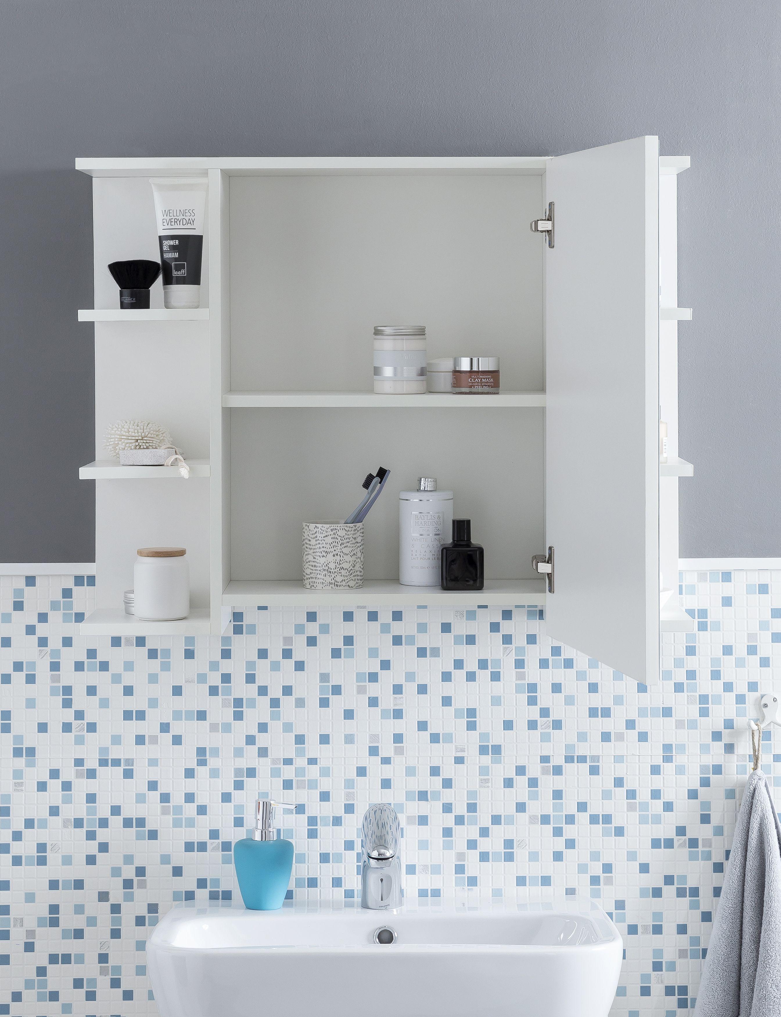 Wohnling Badschrank Weiss Wl5 754 Aus Spanplatte Bathroom Cabinet Badschrank Gaste Toilette Schrank