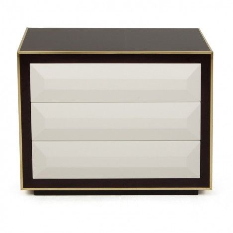 Black And White Nightstand With Golden Details Nightstands Are Always A Great Choice For Elegant Bedrooms Timeless Home Décors