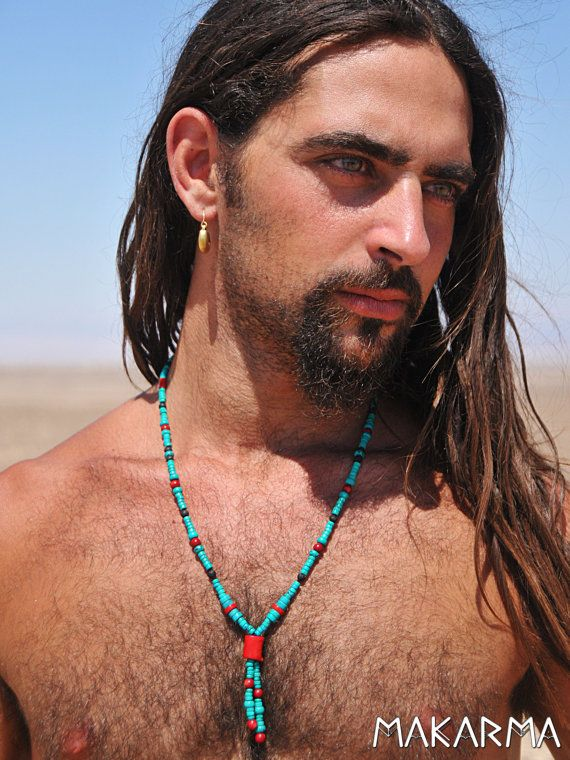 Uni Native American Necklace Men Tribal By Makarmacreations