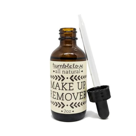 All natural Makeup Remover - Face Oil made with organic jojoba oil, removes waterproof eyeliner, red #jojobaoil