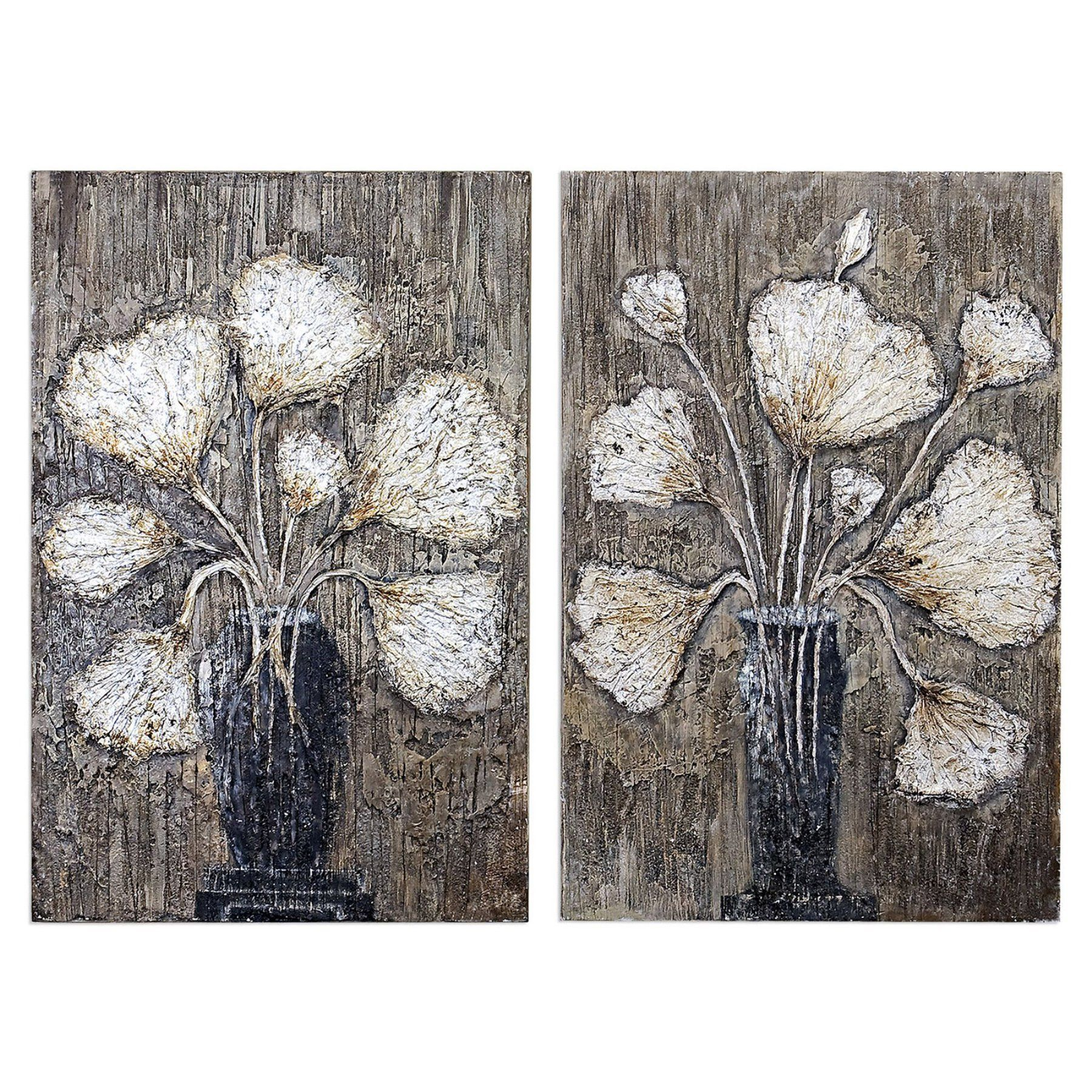 Uttermost Clear Water Stems Floral Wall Art - Set of 2 - 41424