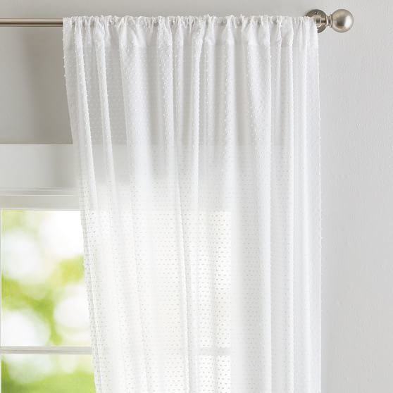 Textured Dot Sheer Curtain Panel In 2020 Panel Curtains
