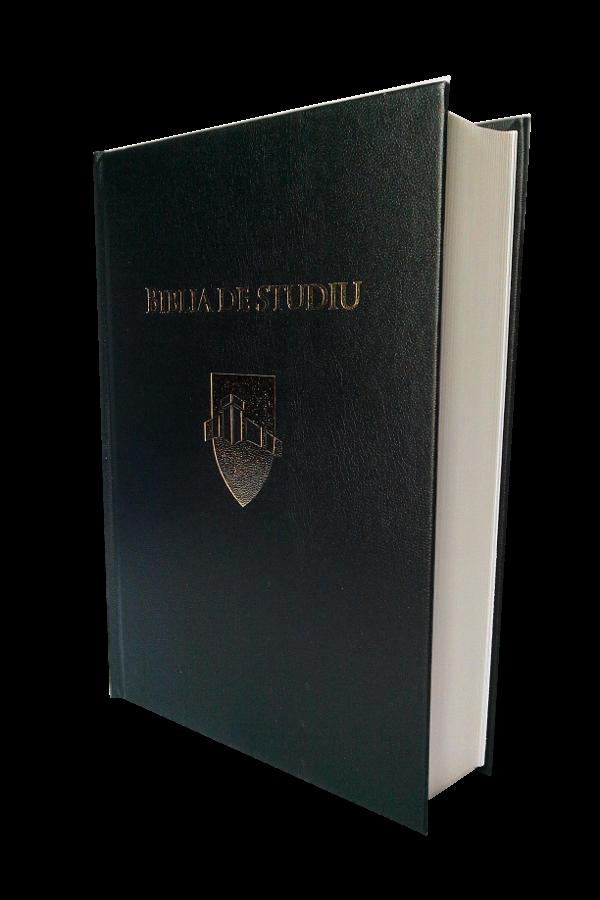 Biblia de studiu Andrews, mare, coperta cartonata, neagra