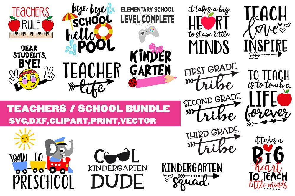 School Teachers SVG bundle clipart, vector, printable