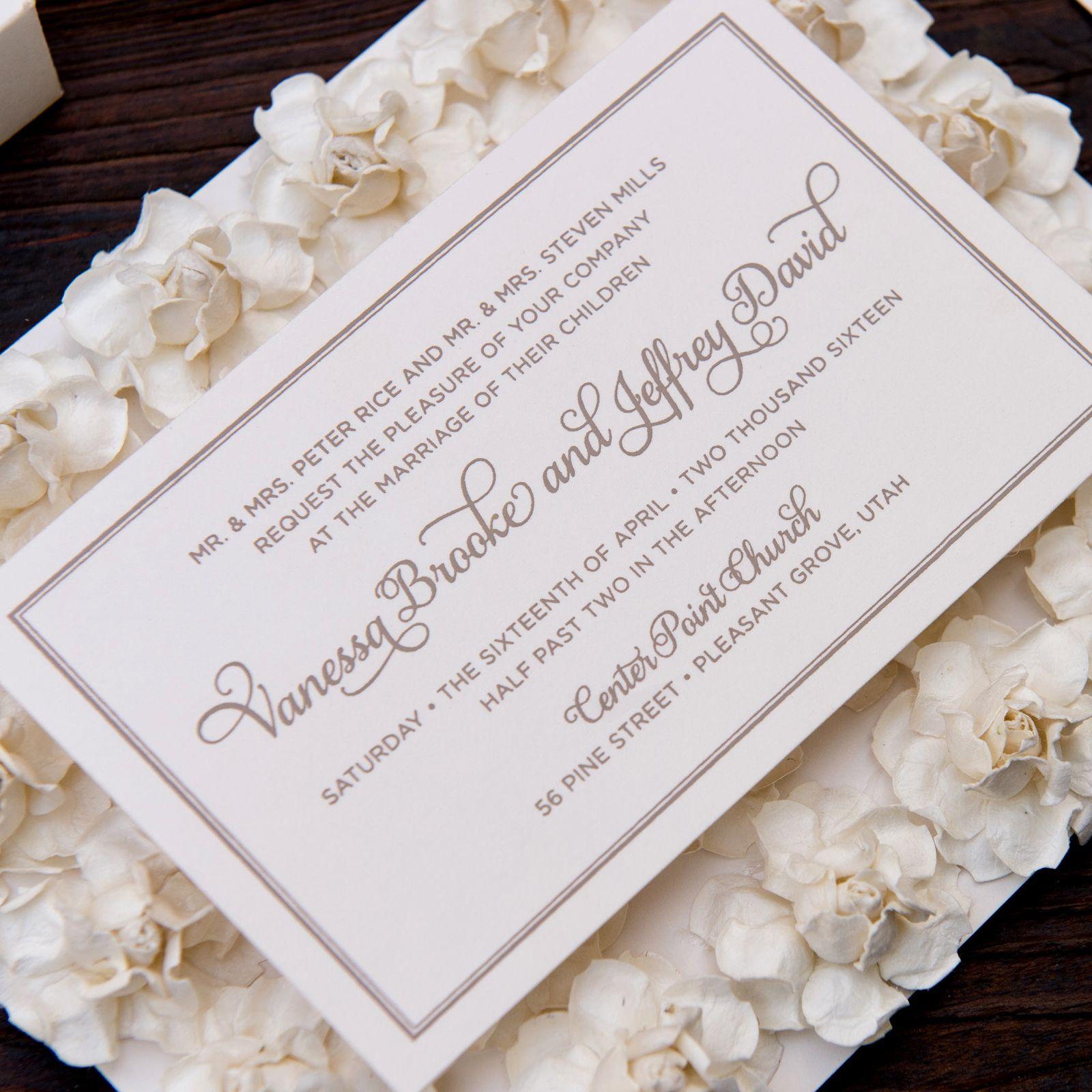 Rose & Flower Wedding Invitation - Vanessa Wedding Invitation ...
