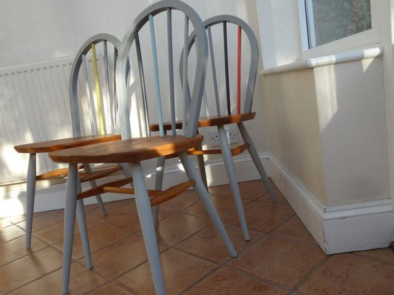 ERCOL CHAIR PAINTED