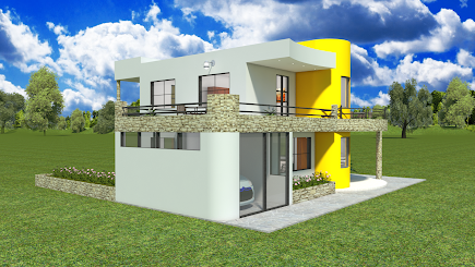 Diseños Y Planos Casa Moderna Dos Pisos Con Garaje Y Terraza