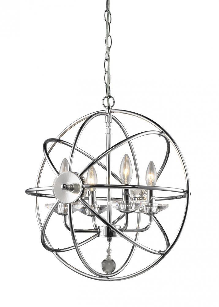 4 Light Sphere - Chrome : LVCT101H-CH | Park Lighting | Sherwood ...