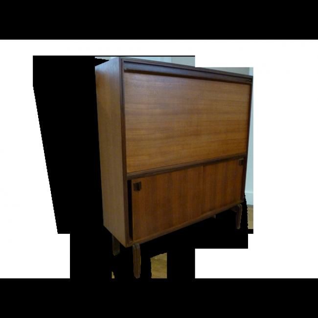 Secretaire Anglais 60 Bois Marron Dans Son Jus Vintage 9462 Deco Vintage Mobilier De Salon Deco