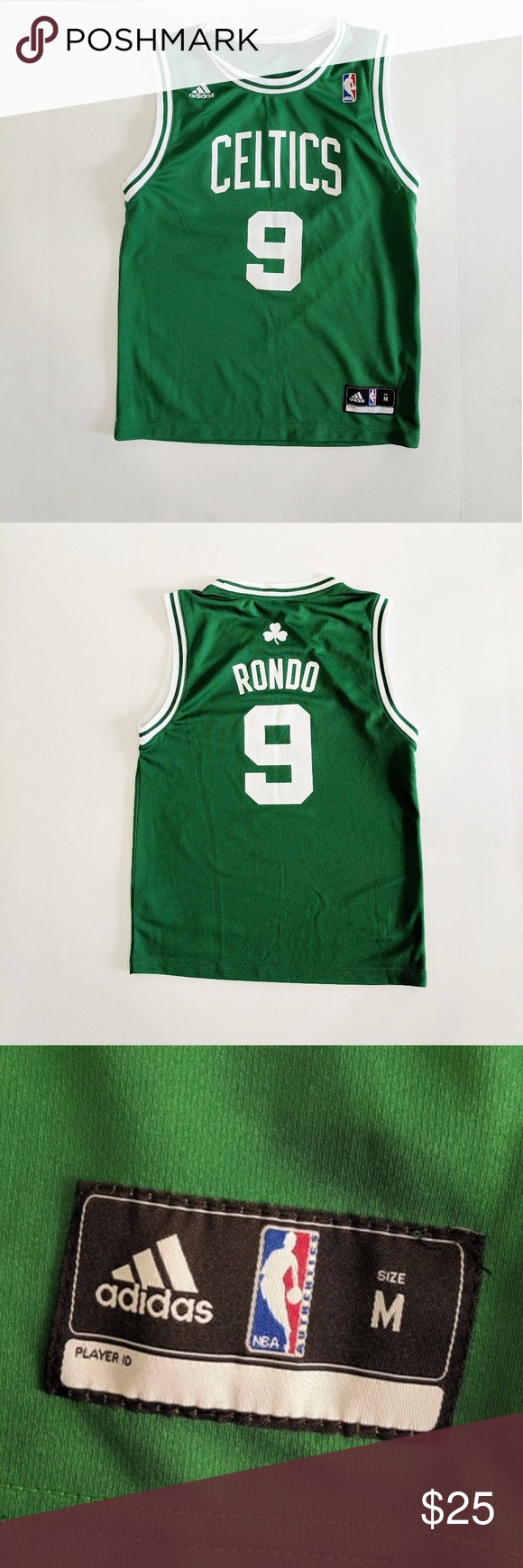 06ac54127dc Adidas Boston Celtics  9 Rondo Green Jersey Medium Great condition! Awesome Boston  Celtics Jersey