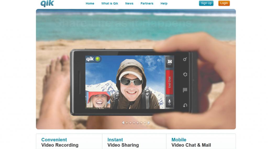 QIK Grabación y streaming desde el móvil. http//www