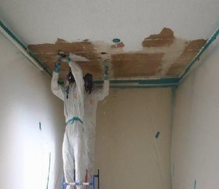 Removing Asbestos Is One Of The Important Steps To Avoid Health Issues This Needs A Keen Identification A Asbestos Removal Popcorn Ceiling Janitorial Services