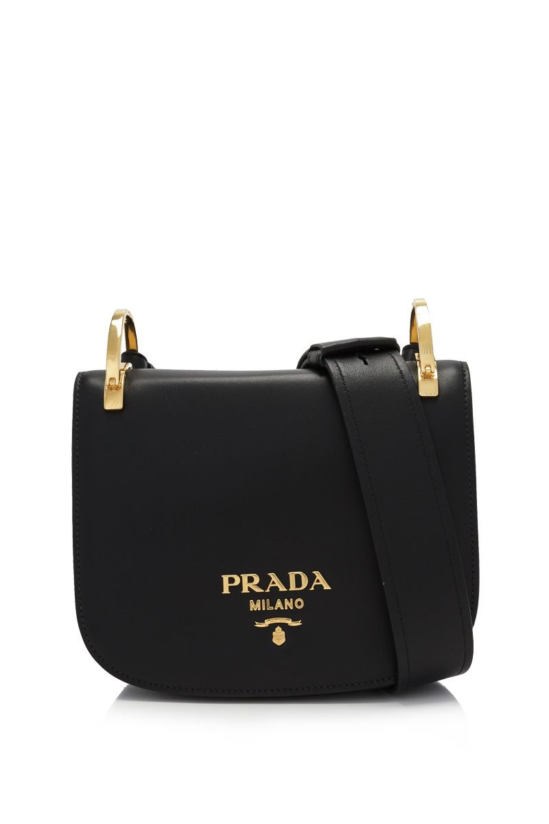 7df633d1bdae Prada City Calf Pionnière Bag Nero - PRADA