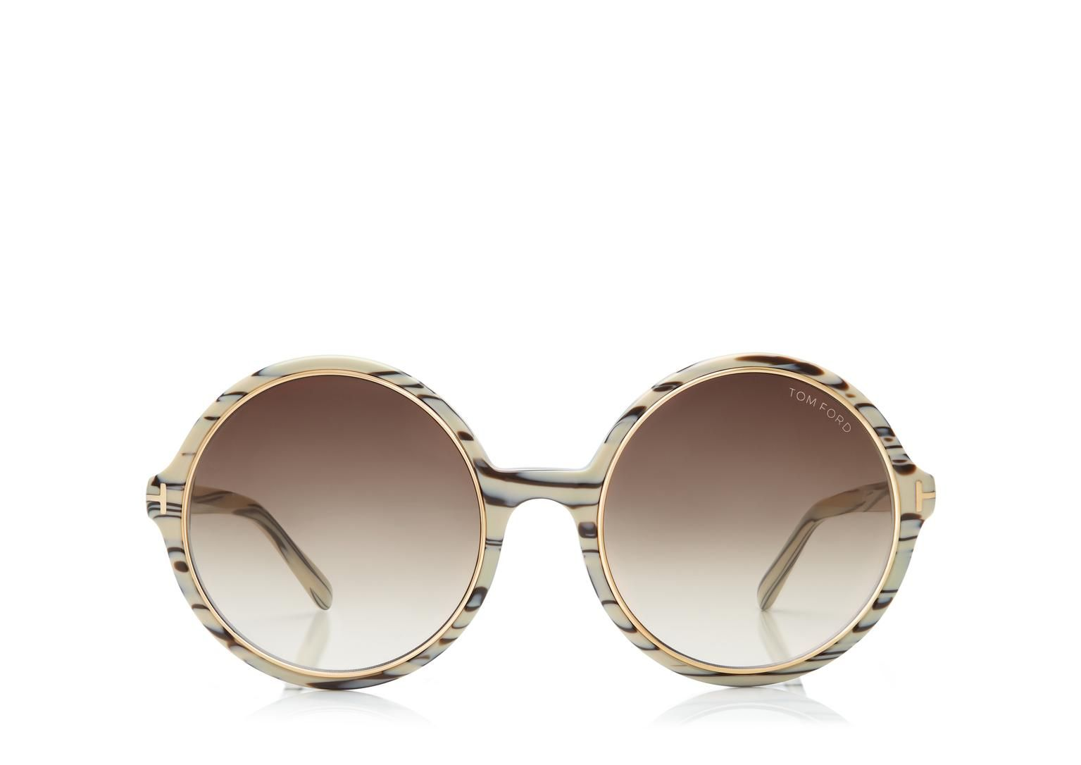 704744be57 Carrie Vintage Round Sunglasses Tom Ford
