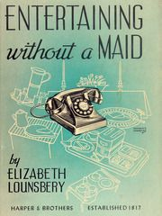 Entertaining Without A Maid (1941) from Nick Harvill Libraries