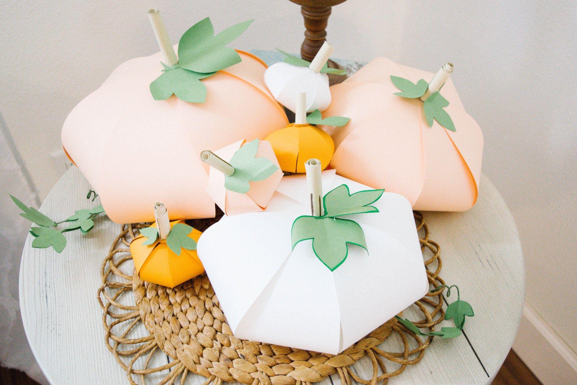 Paper Pumpkin StepByStep DIY Tutorial Paper pumpkin
