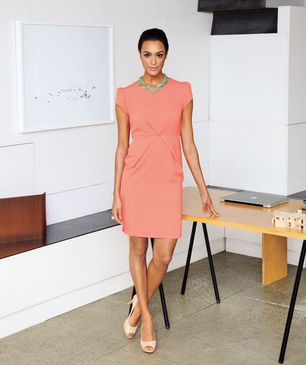 Coral Work Dress
