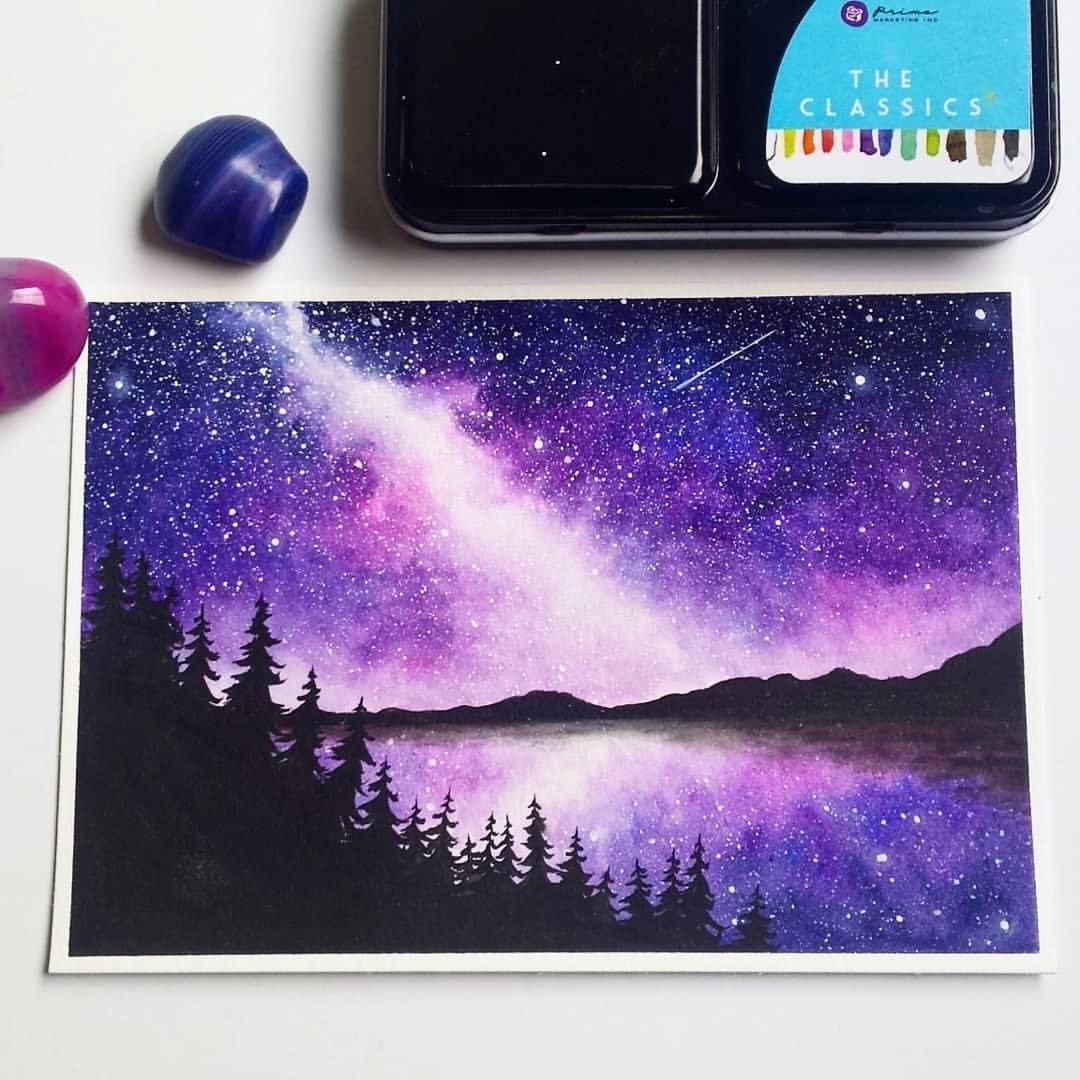 Repost Forestfoxart Here Is One More Milky Way Painting