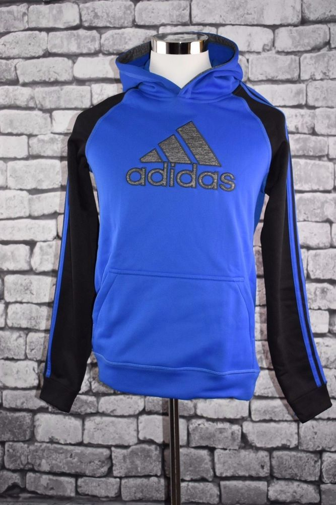 Mens Adidas Cotton Fleece Hoodie Black Pull Over Sweatshirt CV6801 Size XL /& XXL