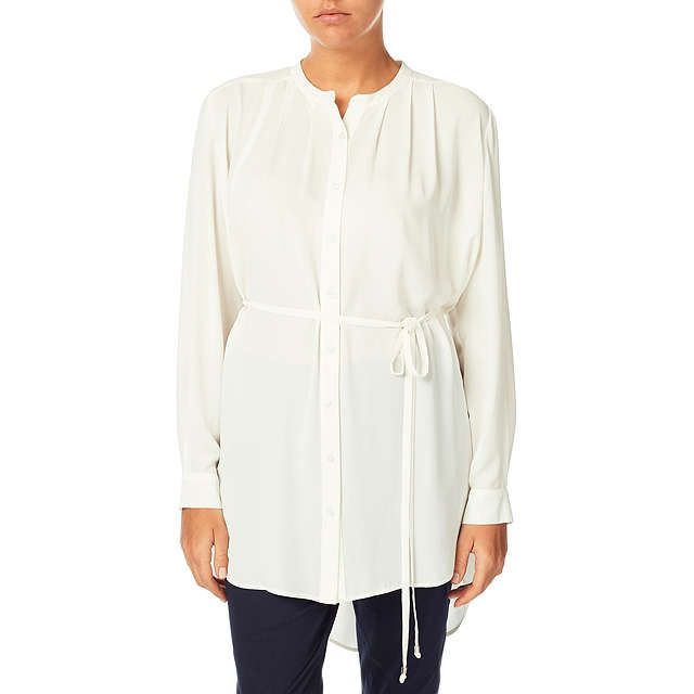 BuyJacques Vert Oversized Pleat Detail Shirt, Light Neutral, 24 Online at johnlewis.com