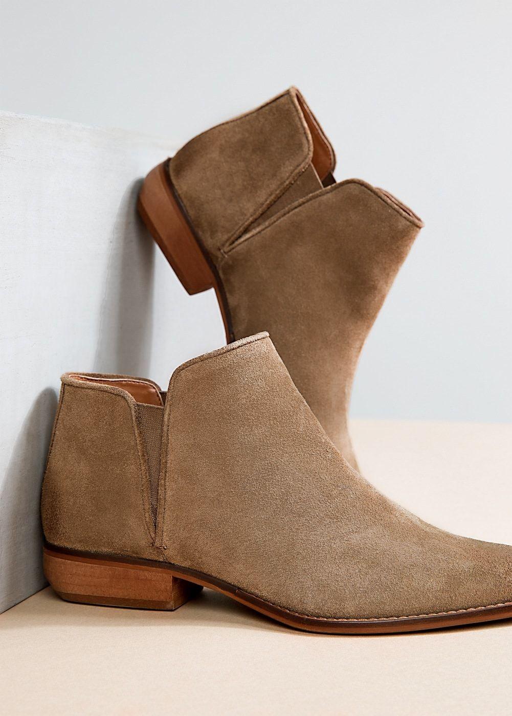 765594e0 Botín plano serraje - Mujer | zapatos | Zapatos botines, Botas y ...