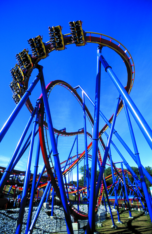 Superman Ultimate Flight At Six Flags Great America Roller Coasters I Ve Ridden Roller Coaster Amusement Park Rides Roller Coaster Ride