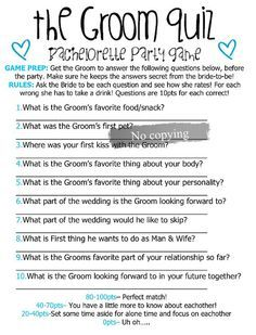 Groom Bride Questions Game To Ask About