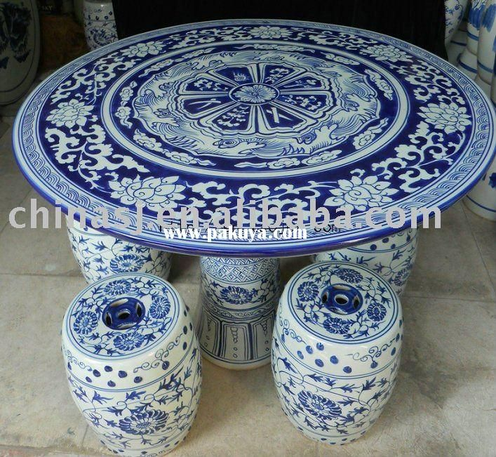 Lovely And White Porcelain Garden Table And Stool U2013 Chinese Antique Porcelain ;