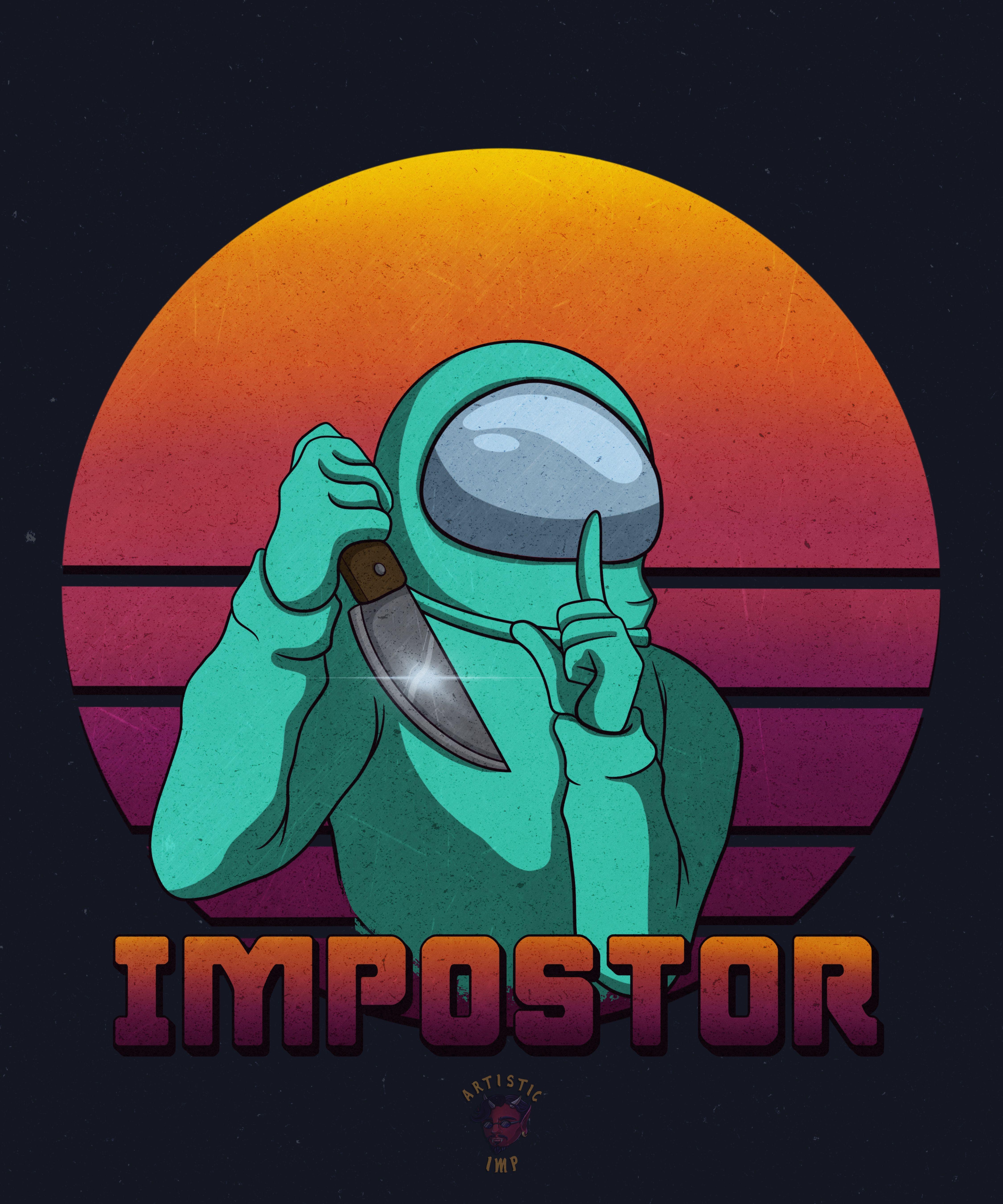 Among Us Impostor Cyan Crewmate Cute Patterns Wallpaper Character Wallpaper Cute Cartoon Wallpapers