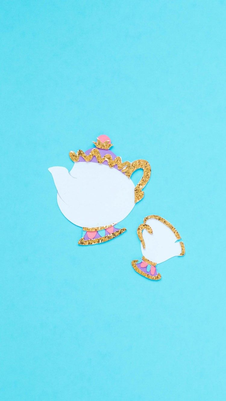 Disney Family Chip And Mrs Potts Wallpaper From The Beauty And