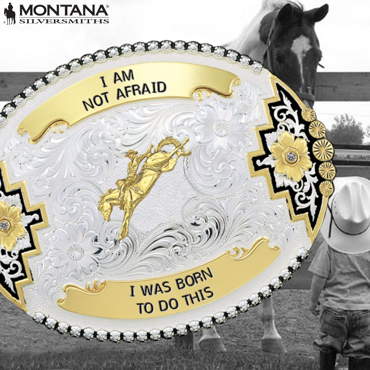 I am not afraid. I was born to do this. #motivationalmonday Find your motivation here; http://www.montanasilversmiths.com/custom-buckles
