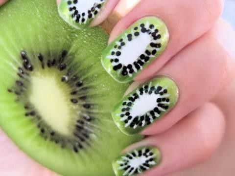 Kiwi nails.