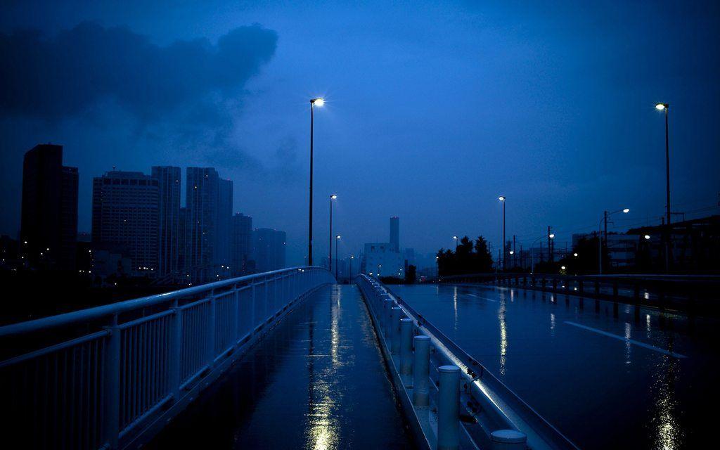 City Bridge Blue Aesthetic Dark Blue Aesthetic Aesthetic Tumblr Backgrounds Blue wallpaper hd for desktop