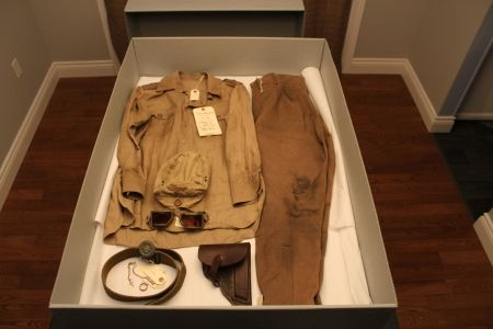 Tom Cruise (Col. Stauffenberg) Tunisia uniform from Valkyrie (2008) - Heavily distressed costume used for opening combat scene in Tunisia.
