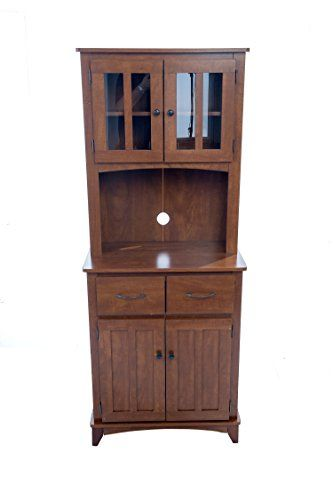 Home Source Industries Oak Hills Microwave Traditional Hardwood Cabinet, Oak  Finish Home Source Industries Http