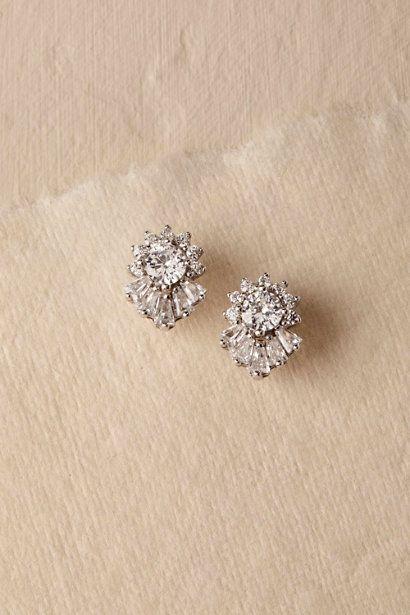 eb5265b351c3d Silver Lexie Stud Earrings | BHLDN | Dream wedding | Wedding ...