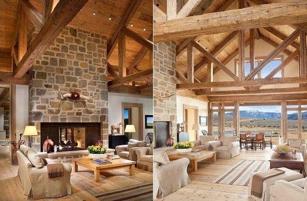 Visite privée du0027une maison au style rustique à la montagne Salons