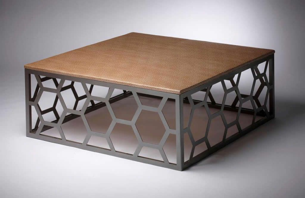 Custom metal home furniture design of miller coffee table for Metal design chair
