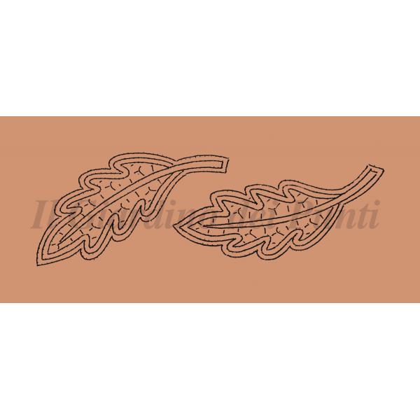 Foglie n. 208 - Il Giardino dei Punti, Circolo di ricami, pizzi e decori