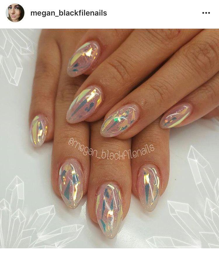 Glitter iridescent nails. | Nail Art | Pinterest | Iridescent, Nail ...