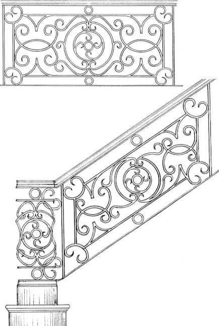 Best Stair Railing Designs Isr052 Staircase Wrought Iron 400 x 300