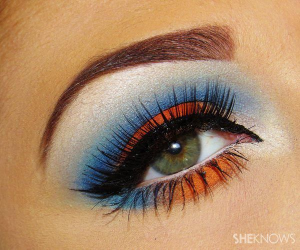 denver broncos eye makeup tutorial - Denver Bronco Colors