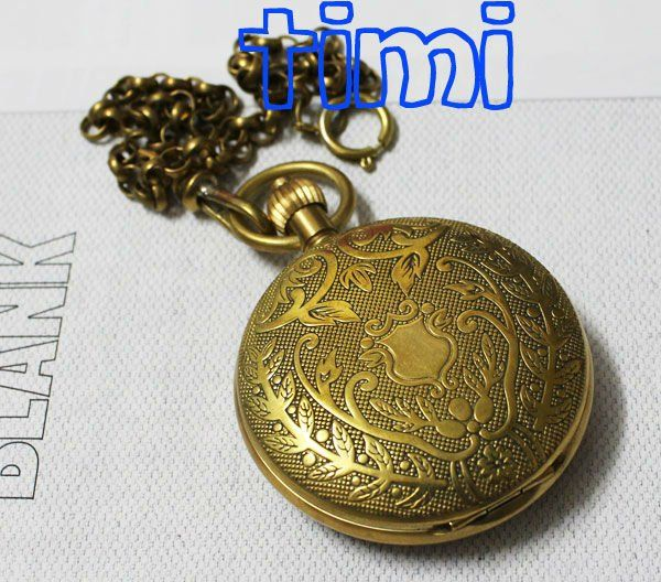 Personalised Half Hunter 100% Brass Crop Plated Skeleton Pocket Mechanical Watch on AliExpress.com. $22.68