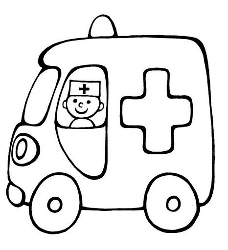 ambulancia | Applique | Pinterest | Coloring pages, Transportation ...