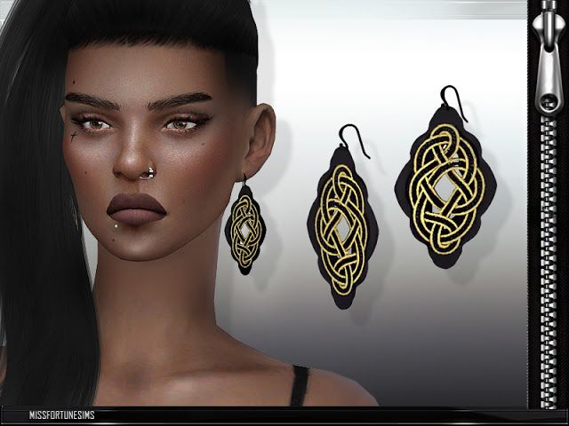 Sims 4 CC's - The Best: Abstract Earrings by MissFortune