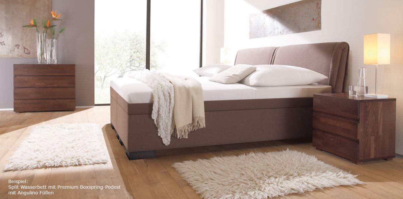 Boxspring Wasserbett Mit Riposo Kopfteil Bett Wasserbett Und