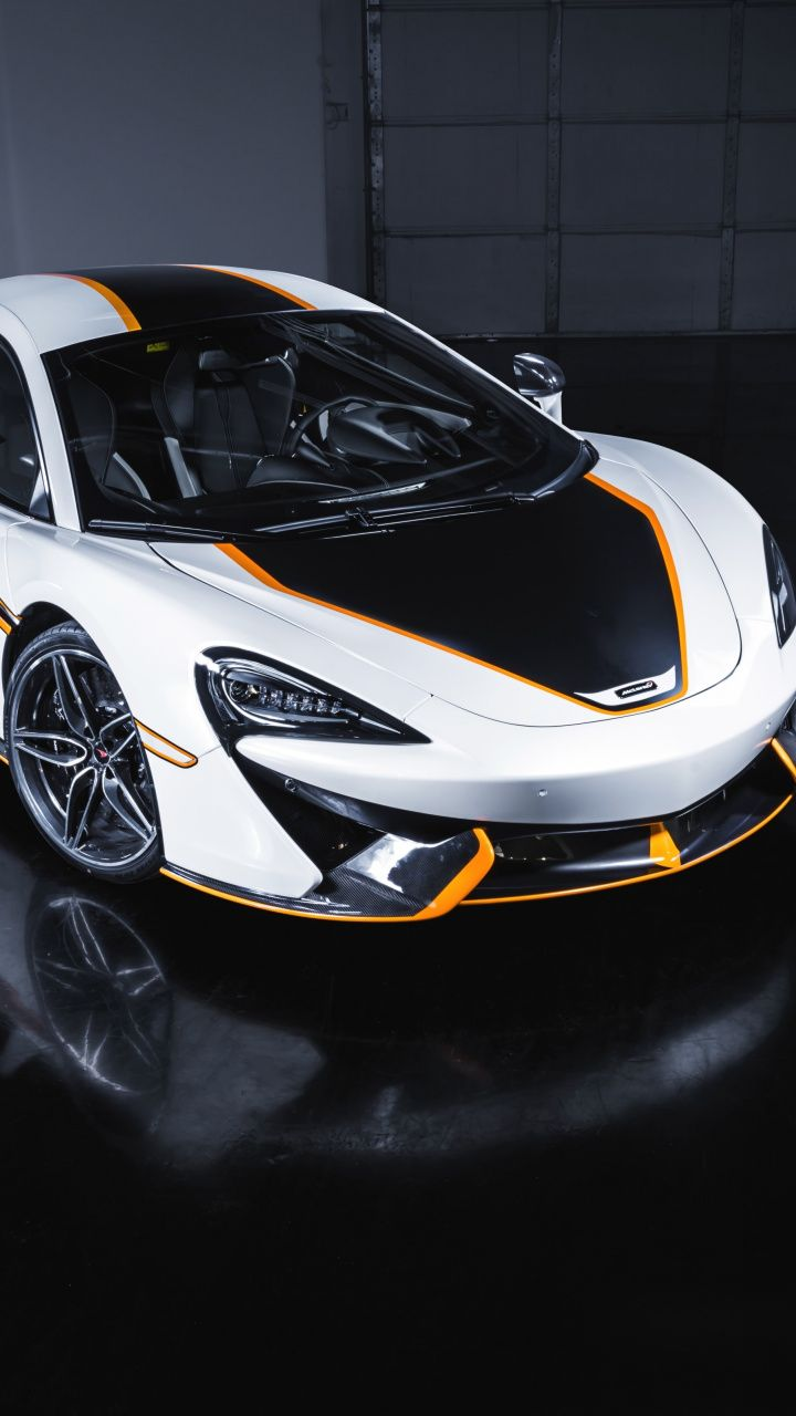 Download 720x1280 wallpaper Maclaren, white sports car