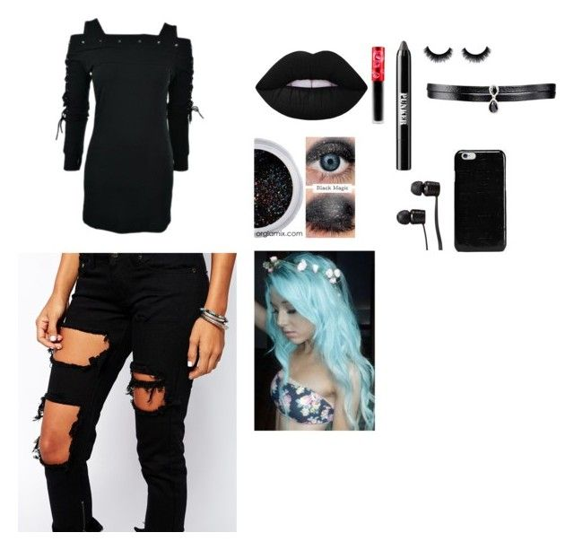 """Emo/Scene"" by keira-brooks on Polyvore featuring Poizen Industries, Liquor n Poker, Lime Crime, Ardency Inn, Fallon, Vans and Maison Margiela"