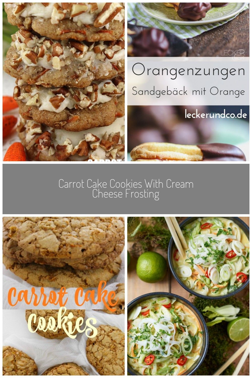 Carrot cake cookies with cream cheese frosting are the