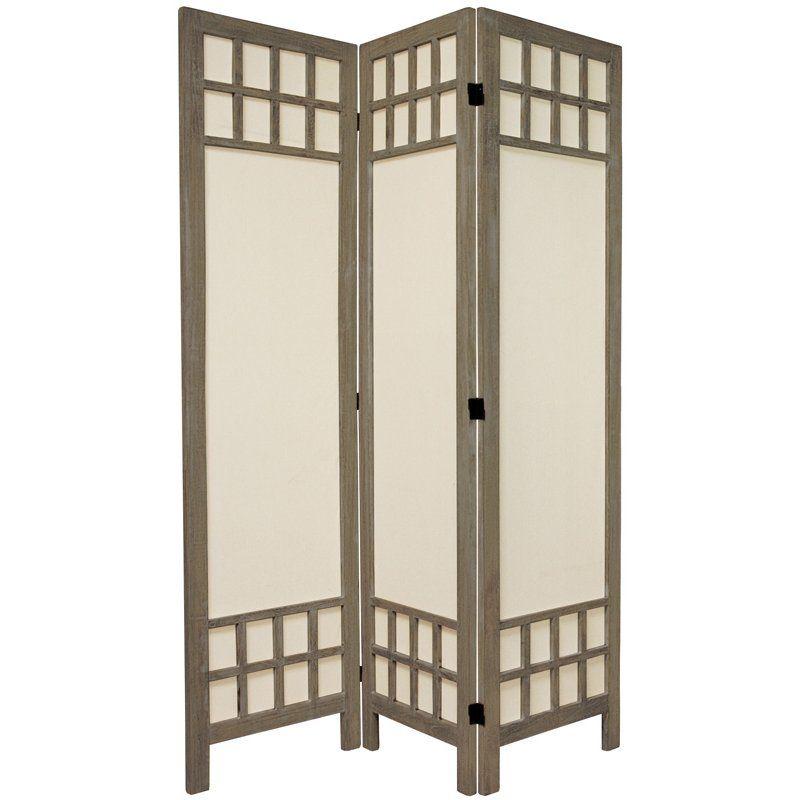 Oriental Furniture 5 1 2 Ft Tall Window Pane Fabric Room Divider 3